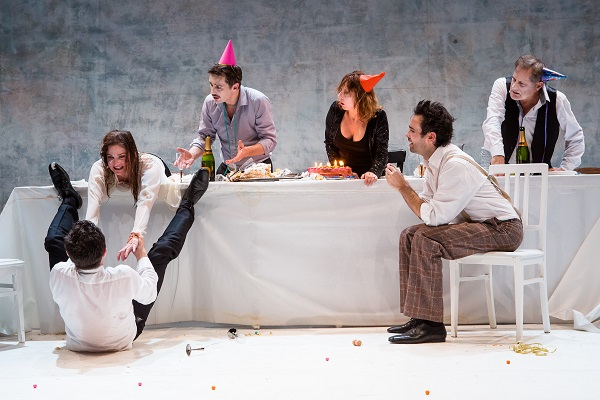 Left to right: Jauris Casanova, Céline Carrère, Stéphane Krähenbühl, San-dra Faure, Olivier Le Borgne, and Charles Roger Bour/Photo: Agathe Pouoponey.