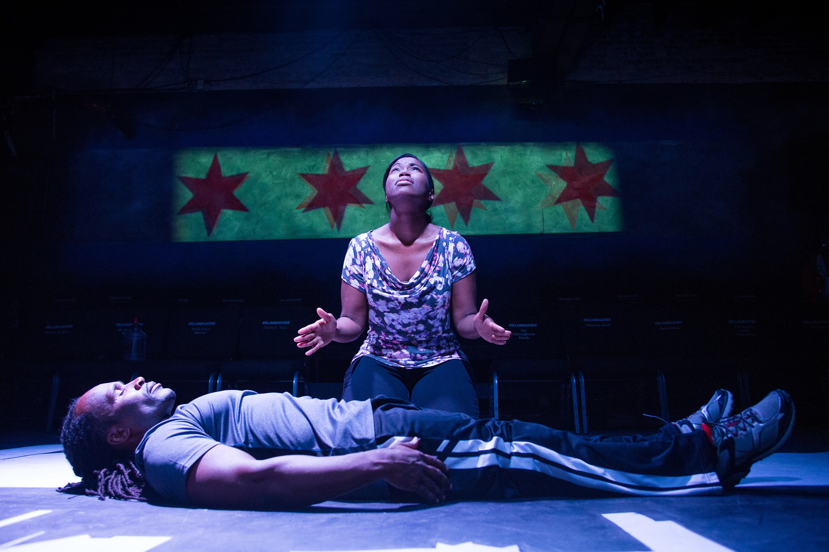 Photo: Sir Taylor (lying down) and Kristin E. Ellis, photo by Joel Maisonet