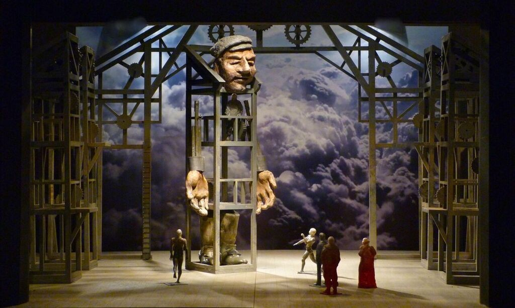 "Model of the set for Lyric's ""Das Rheingold"""