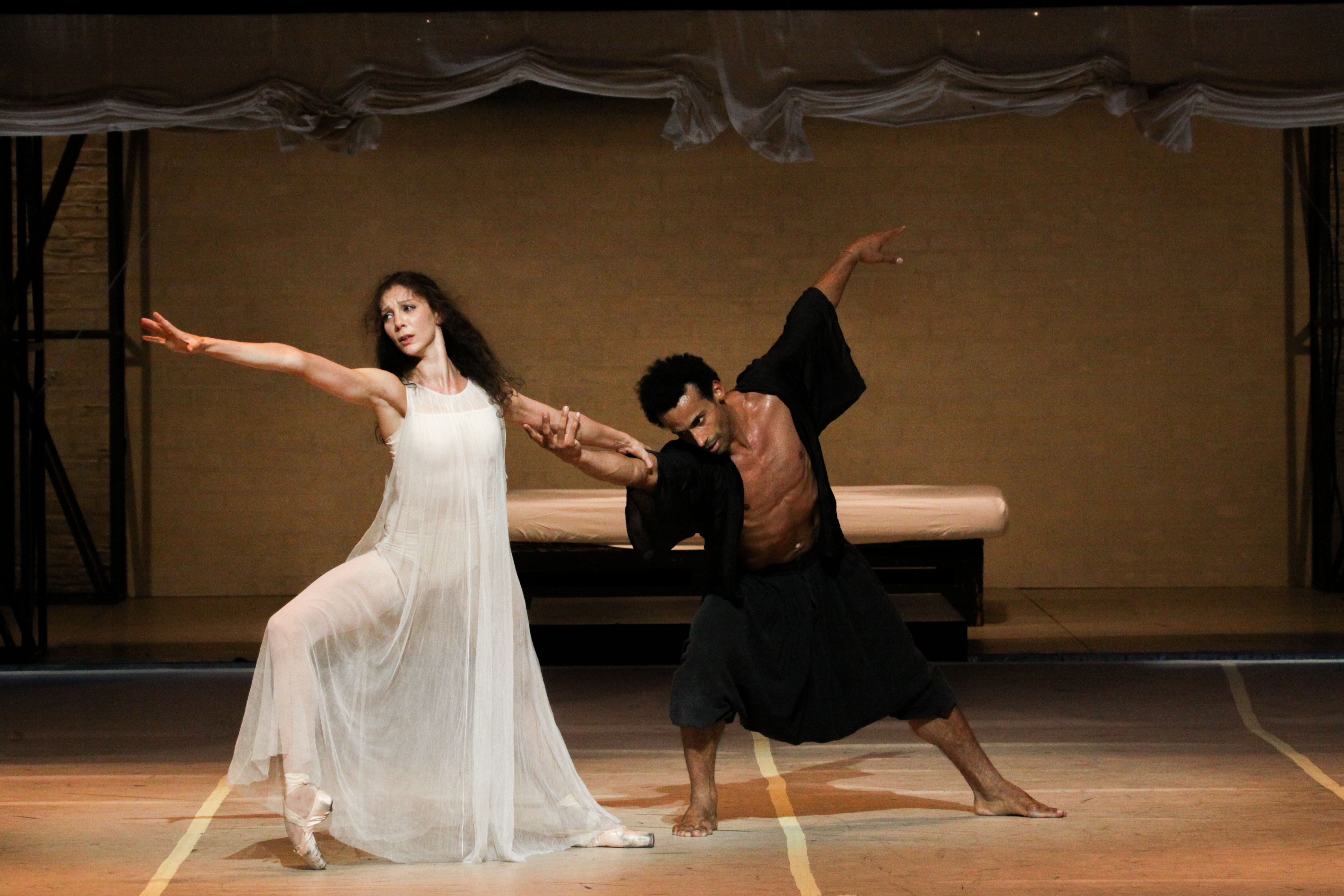 "Helene Bouchet and Amilcar Moret Gonzalez in ""Othello"""