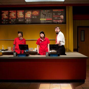 Andrew Goetten, Sarah Price and Matt Fletcher/Photo: Jonathan L. Green.