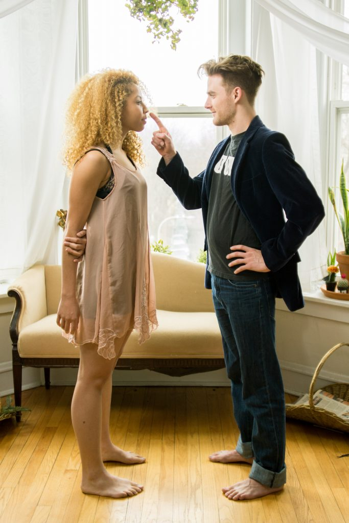 "Mia Vivens and Ryan Alan Jones in ""The Big Funk"" at Wild Atlas Theatre Company/Photo: Matthew Freer"