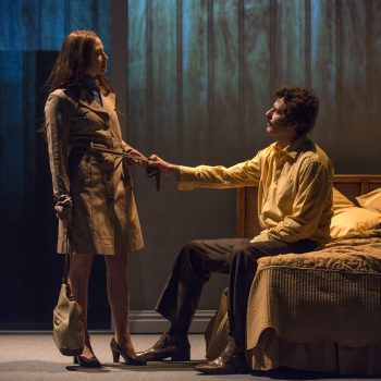 """Carrie Coons and Gary Wilmes in """"Mary Page Marlowe"""" at Steppenwolf Theatre Company/Photo: Michael Brosilow"""
