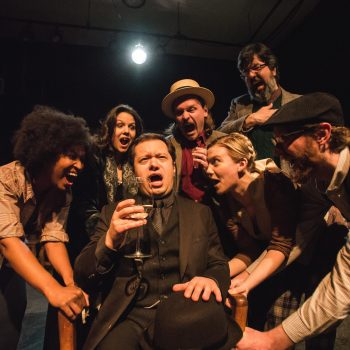 "The cast of ""Ulysses"" at The Plagiarists/Photo: Joe Mazza at Brave Lux"