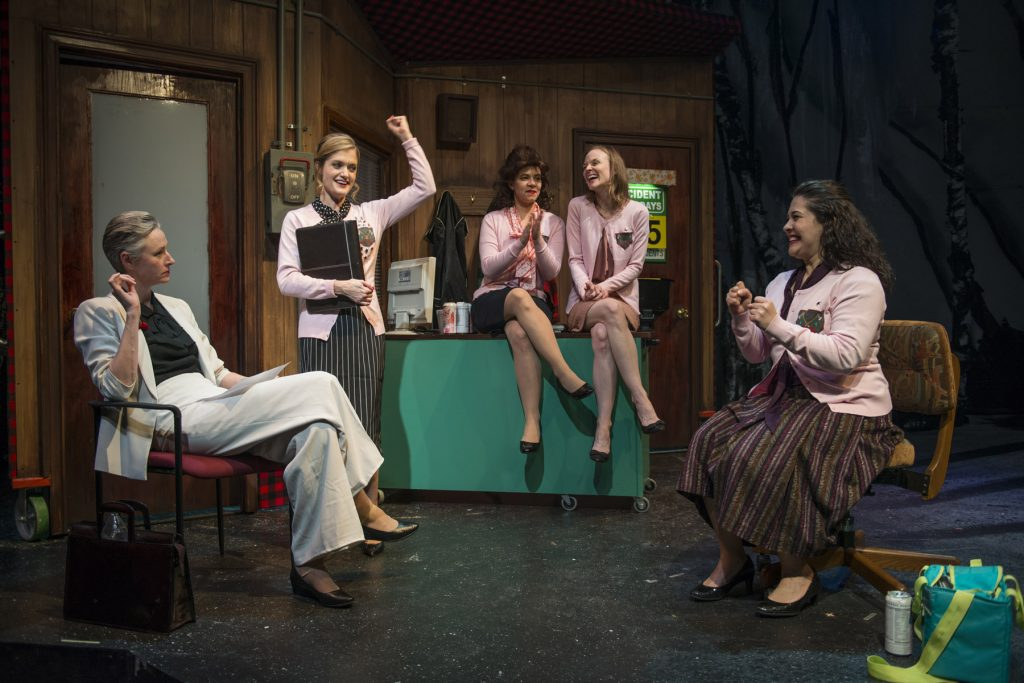 Kelli Simpkins, Meghan Reardon, Lauren Sivak, Erin Barlow and Sadieh Rifai/Photo: Michael Brosilow