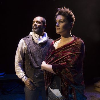 "Nathaniel Stampley, Danni Smith in ""Man of La Mancha"" at Marriott Theatre/Photo: Liz Lauren"