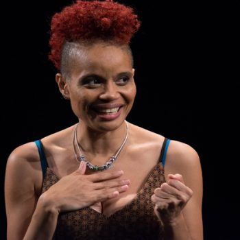 "Writer and performer StaceyAnn Chin in ""Motherstruck"" kicks off  the Greenhouse Theater Center's Solo Celebration/Photo:"