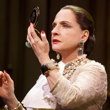 Patti LuPone/Photo: Joan Marcus  The Goodman Theatre production of the new musical War Paint, which stars two-time Tony Award winners Patti LuPone ( Evita, Gypsy) and Christine Ebersole ( 42nd Street, Grey Gardens) as Helena Rubinstein and Elizabeth Arden, respectively, begins previews June 28 prior to an official opening July 18 at the Chicago venue.  The Tony-winning actresses are joined by John Dossett as Tommy Lewis, Arden's husband and chief marketing officer, and Douglas Sills as the ambitious Harry Fleming, Madame Rubinstein's clubby confidante and faithful ally.  Also in the company are Mary Ernster, Leslie Donna Flesner, David Girolmo, Joanna Glushak, Chris Hoch, Mary Claire King, Steffanie Leigh, Erik Liberman, Barbara Marineau, Stephanie Jae Park and Angel Reda.  Due to ticket demand, the production announced June 28 that the musical has been extended for a second and final time through August 21 in the Albert Theatre.  War Paint is a world-premiere musical by librettist Doug Wright, composer Scott Frankel, lyricist Michael Korie, choreographer Christopher Gattelli and director Michael Greif. The musical is inspired by the book War Paint, by Lindy Woodhead, and the documentary film The Powder & the Glory, by Ann Carol Grossman and Arnie Reisman.  The War Paint creative team includes David Korins (set design), Catherine Zuber (costume design), Kenneth Posner (lighting design) and Brian Ronan (sound design), Bruce Coughlin (orchestrations) and Lawrence Yurman (music director).
