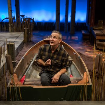 "Eddie Jemison in ""Life Sucks"" at Lookingglass Theatre Company/Photo: Liz Lauren"