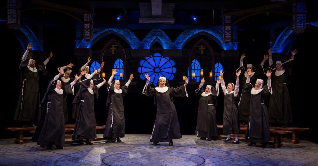 """The cast of """"Sister Act"""" at Marriott Theatre/Photo: Liz Lauren and Marriott Theatre"""