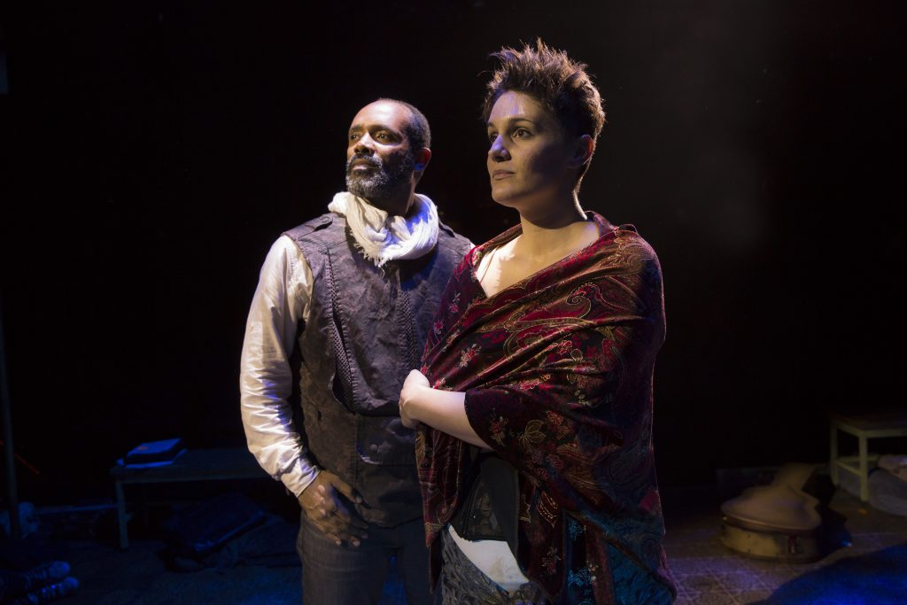 "Nathaniel Stampley, Danni Smith in ""Man of La Mancha"" at Marriott Theatre/Photo: Liz Lauren"