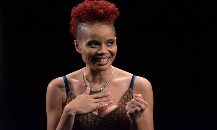 """Writer and performer StaceyAnn Chin in """"Motherstruck"""" kicks off the Greenhouse Theater Center's Solo Celebration"""