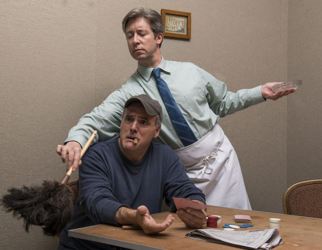 "Norm Boucher and George Keating in ""The Odd Couple"" at Theatre at the Center/Photo: Michael Brosilow"