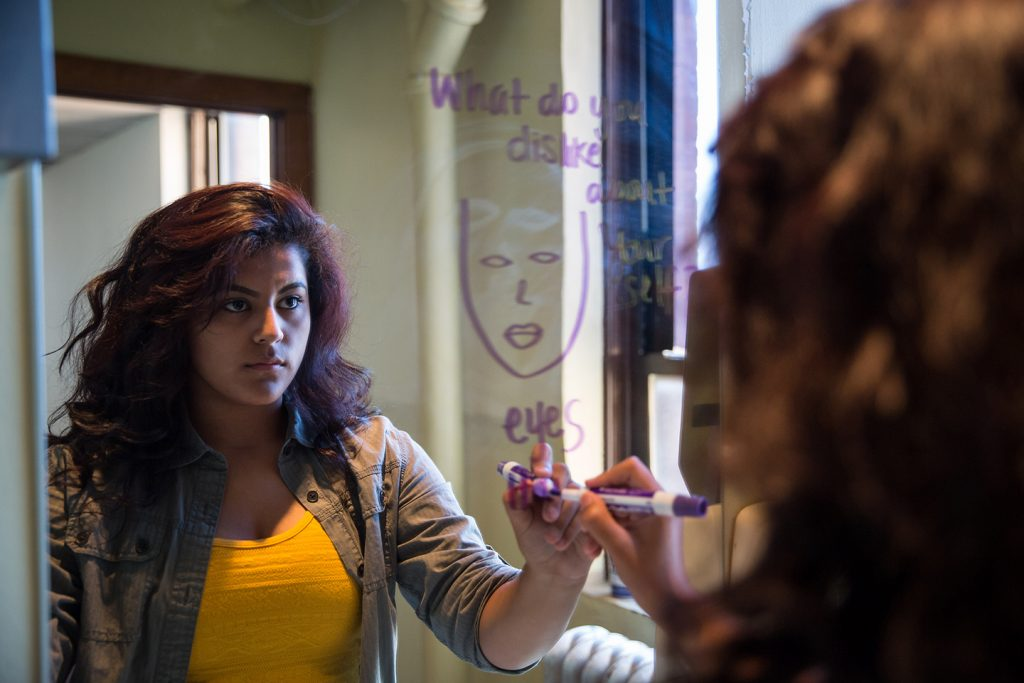 "Paola Rico in Albany Park Theater Project's ""Learning Curve""/Photo: Liz Lauren"