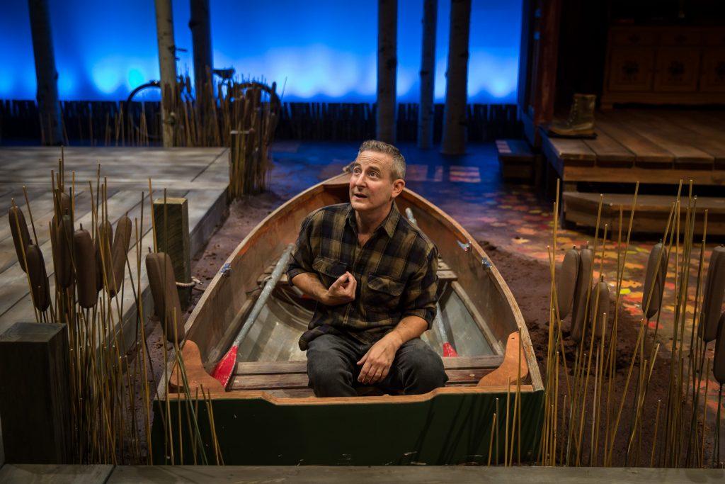 """Eddie Jemison in """"Life Sucks"""" at Lookingglass Theatre Company/Photo: Liz Lauren"""