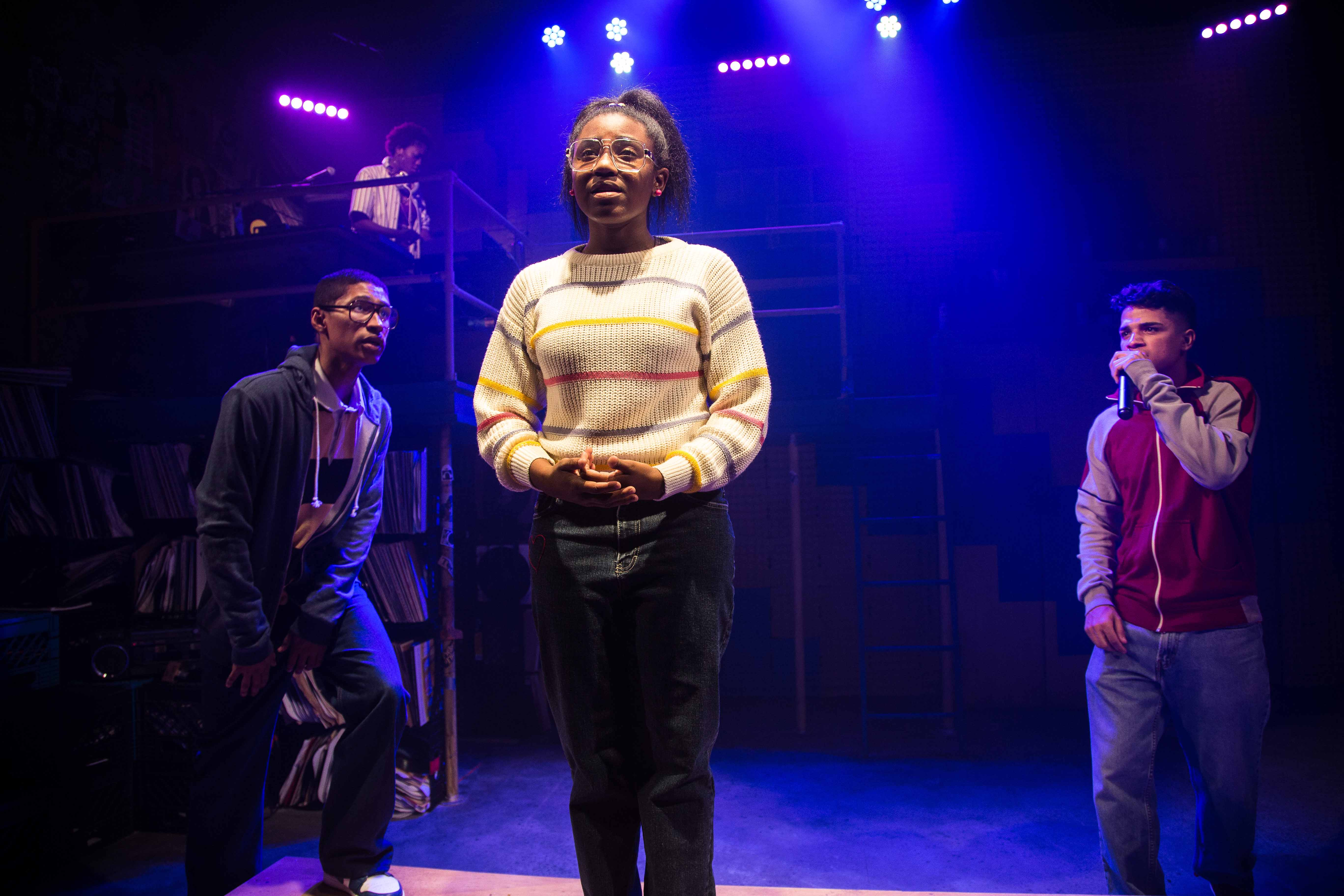 "Angela Alise (corner), Tevion Lanier, Ireon Roach and Johnathan Nieves in ""How We Got On"" at Haven Theatre/Photo: Austin Oie"