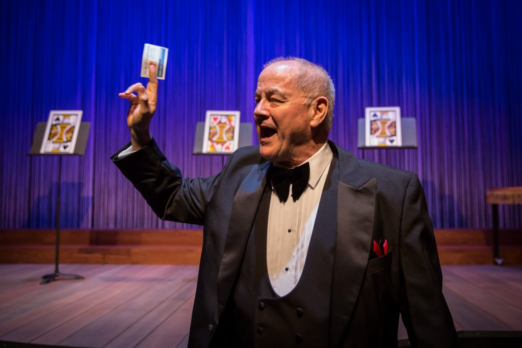 "Francis Guinan in Goodman Theatre's ""The Magic Play""/Photo: Liz Lauren"