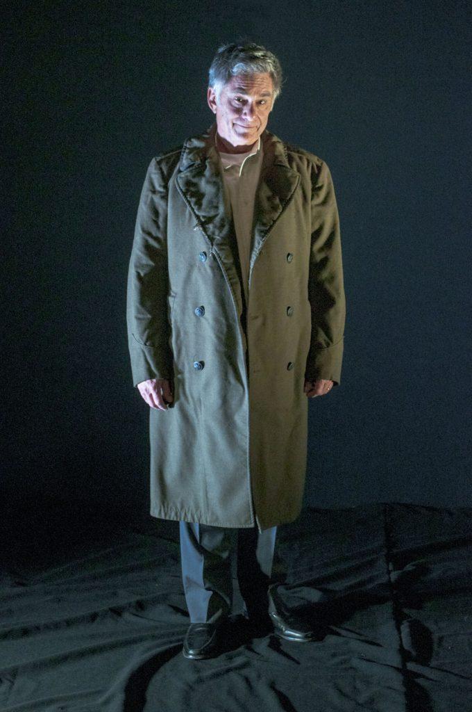 "Gene Weygandt in Greenhouse Theater Center's of ""Uncle Philip's Coat""/Photo: Alex Higgin-Houser."
